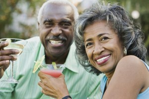 A senior couple enjoying life.