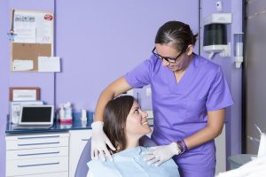 woman relaxed at dentist